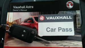 Vauxhall Astra key with a Vauxhall car pass